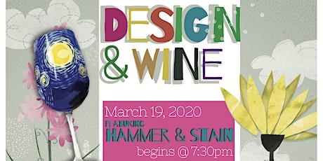 Design & Wine - starry night wine glass Paint &Sip - Wine Flight Included! tickets