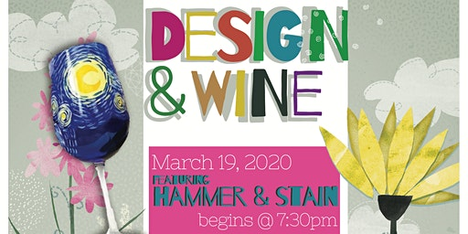 Design & Wine - starry night wine glass Paint &Sip - Wine Flight Included!