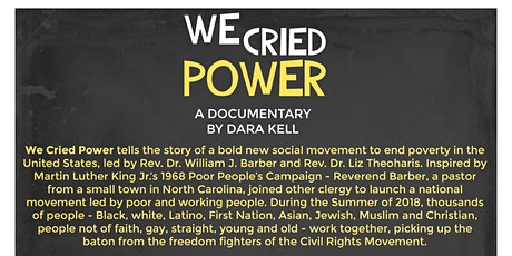 WE CRIED POWER:  Free Film Showing and Poor People's Campaign Update tickets