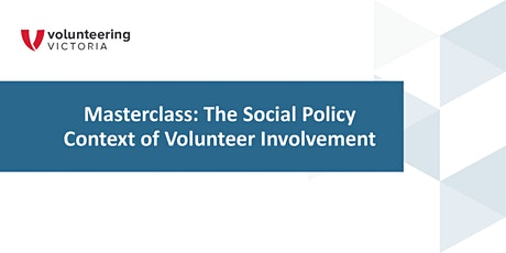 Research Masterclass: Social Policy Context of Volunteer Involvement tickets