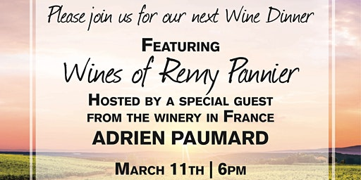 Remy Pannier Wine Tasting with Special Guest Speaker
