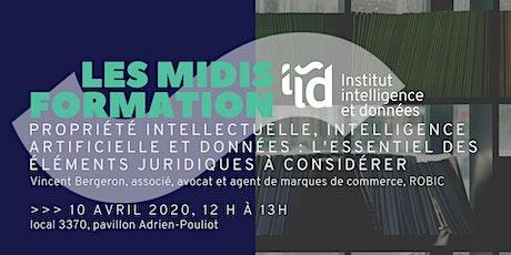 Midi-Formation de l'IID : Propriété intellectuelle, IA et données billets