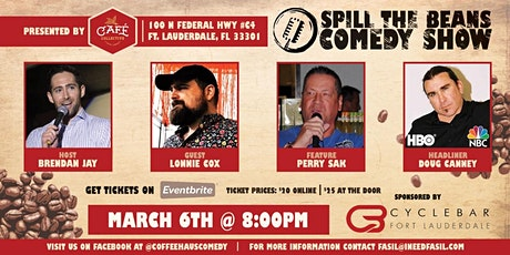 Spill the Beans Stand Up Comedy Show- Doug Canney (NBC & HBO) tickets