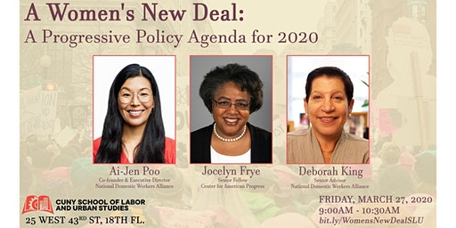 A Women's New Deal:  A Progressive Policy Agenda for 2020