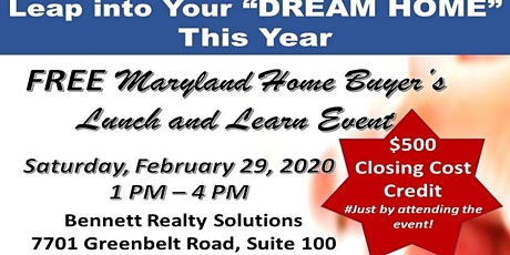 MARYLAND STATEWIDE HOME BUYER'S EVENT - Lunch and Learn tickets