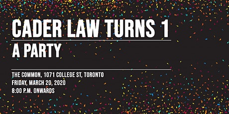 Cader Law Turns 1! tickets