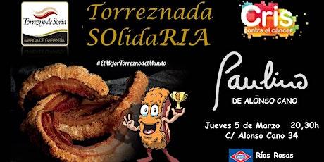 Torreznada SOlidaRIA Restaurante Paulino entradas