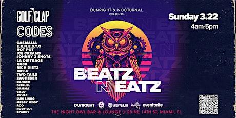 Beatz N Eatz Featuring Golf Clap & Codes tickets