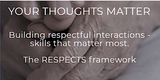 Your Thoughts Matter: RESPECTS Workshop (Boardroom)