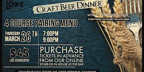 Craft Beer Dinner tickets