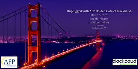 Unplugged with AFP Golden Gate & Blackbaud tickets