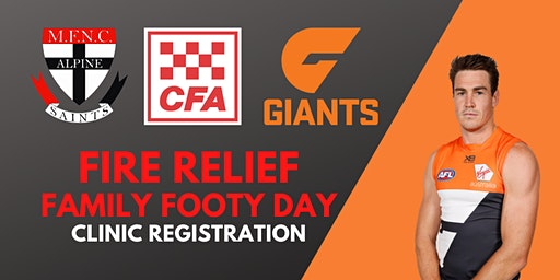 MFNC Fire Relief Event Footy Clinic