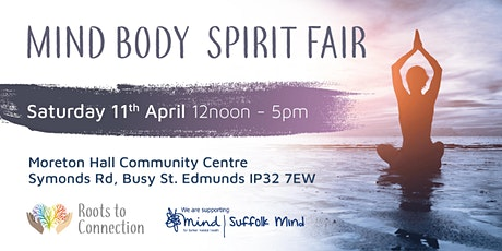 Mind Body Spirit Fair 11th April 2020 Pay £2.50 Entry For Charity tickets