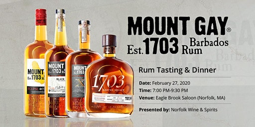 Mount Gay Rum Tasting at Eagle Brook Saloon with Jason Cousins