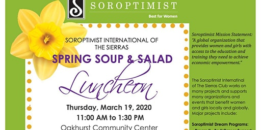 Soroptimist 3.19.2020 - Spring Soup and Salad Fundraiser Luncheon