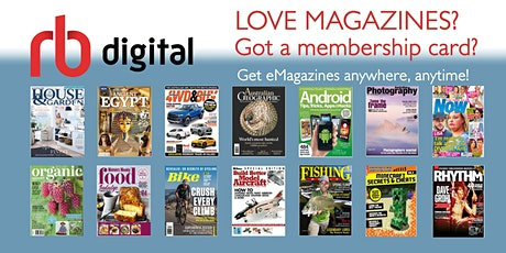 eLibrary - RBdigital - Free online magazines @ Kingston Library tickets