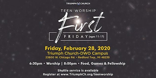 Triumph's First Friday Teen Worship