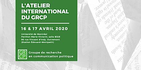 L'ATELIER INTERNATIONAL DU GRCP billets
