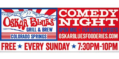 Comedy Night at Oskar Blue's tickets
