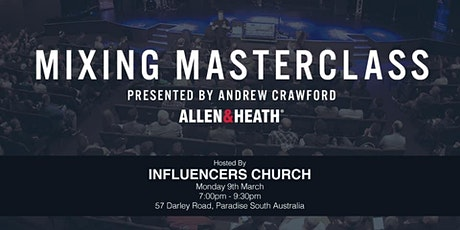 Mixing Masterclass with Andrew Crawford tickets
