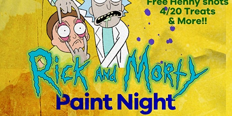 Ricky and Morty Paint night tickets