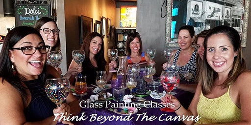 Join us for our Wine/Beer Glass Painting Party Workshop at Sun King Fishers 5/31 @ 130pm