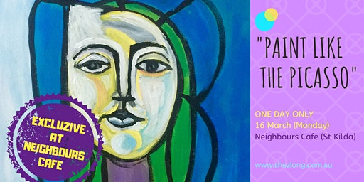 PICASSO STYLE PORTRAIT- coffee and paint workshop