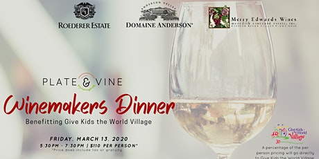 Plate & Vine Winemakers Dinner - Benefiting Give Kids the World Village tickets