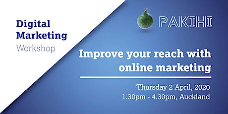 Pakihi Workshop: Digital Marketing - Auckland tickets