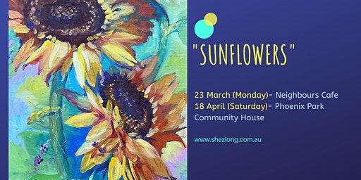SUNFLOWERS - coffee and paint workshop