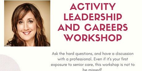 ACTIVITY LEADERSHIP AND CAREERS WORKSHOP tickets