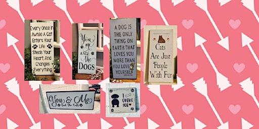 Pet Stenciled Signs Workshop