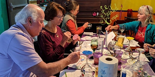Lighted Glass Wine Bottle Painting Workshop at Nacho's Restaurant 03/17 @ 6:00 pm