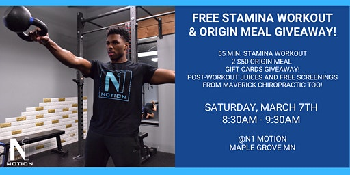 N1 STAMINA WORKOUT + ORIGN MEALS GIVEAWAY!