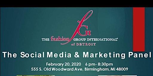 FGI Detroit presets Social Media & Marketing panel.