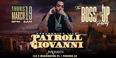 Payroll Giovanni Live at Monarch tickets