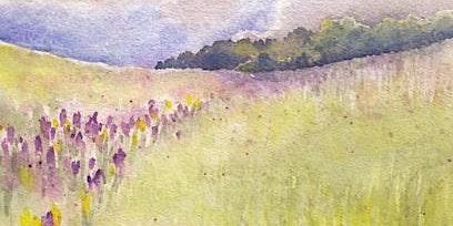 """Grumbacher Watercolor Class; """"Crocus Field"""""""