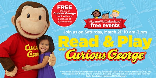 Lakeshore Special Event: Read & Play with Curious George (Salt Lake City)