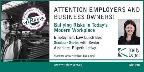 Bullying Risks in Today's Modern Workplace tickets