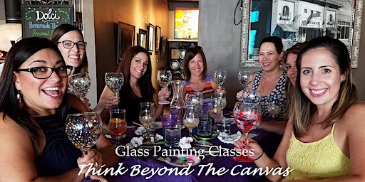 Wine Glass Painting Class at Kitchen 86 -  3/11 at 6:00pm