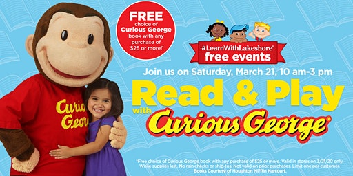 Lakeshore Special Event: Read & Play with Curious George (Matthews)