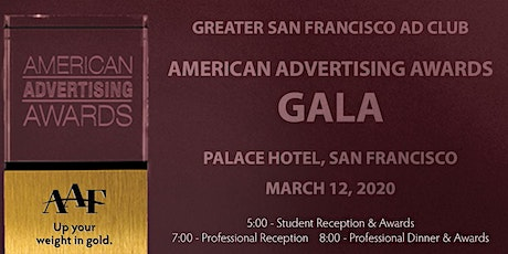 Greater San Francisco American Advertising Awards Student Gala tickets