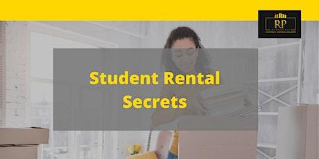 Student Rental Secrets- Learn From Student Rental Cashflow King, Jon Seguin tickets