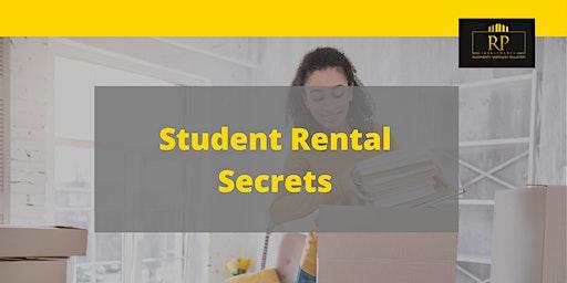 Student Rental Secrets- Learn From Student Rental Cashflow King, Jon Seguin