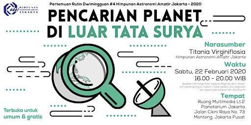 Pencarian Planet di Luar Tata Surya - Pertemuan Rutin Dwimingguan 4 - 2020