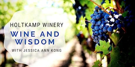 Wine and Wisdom tickets