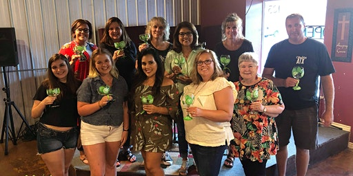 Wine Glass Painting Class at Landon Winery-Greenville 3/19 at 7