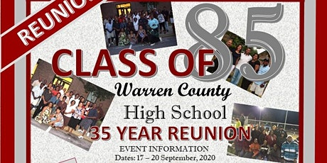 Warren County High School Class of 1985 (35 Year Reunion) tickets