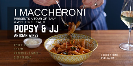 iMaccheroni and Popsy & JJs Tour through Italy Wine Dinner tickets