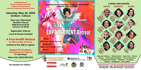"""Red Empowerment Retreat """"If I Had Wings"""" Free Women's Health & Wellbeing Event tickets"""